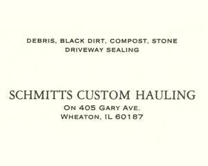 Schmitt's Custom Hauling Business Card