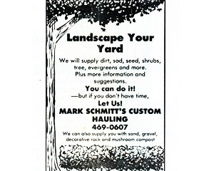 Landscaping Services Newspaper Ad